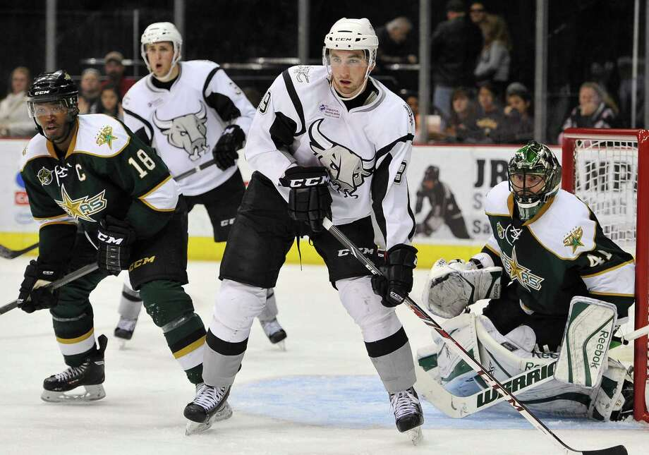 Garrett Wilson, in action against Texas on Dec. 15, has been a steady contributor for the Rampage at left wing. Photo: Photos By Darren Abate / AHL / Darren Abate/DA Media, LLC