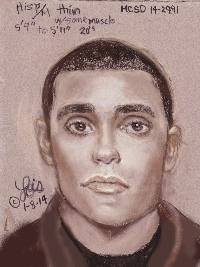 This sketch of the suspect was released by the Harris County Sheriff's Office.