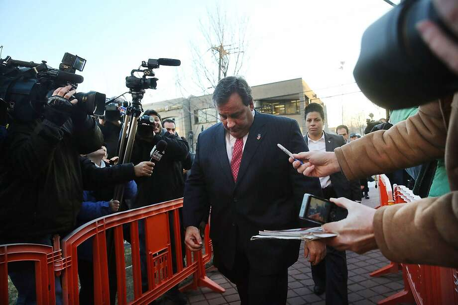 FORT LEE, NJ - JANUARY 09:  New Jersey Gov. Chris Christie enters the Borough Hall in Fort Lee to apologize to Mayor Mark Sokolich on January 9, 2014 in Fort Lee, New Jersey. According to reports Christie's Deputy Chief of Staff Bridget Anne Kelly is accused of giving a signal to the Port Authority of New York and New Jersey to close lanes on the George Washington Bridge, allegedly as punishment for the Fort Lee, New Jersey mayor not endorsing the Governor during the election.  (Photo by Spencer Platt/Getty Images) ***BESTPIX*** Photo: Spencer Platt, Getty Images