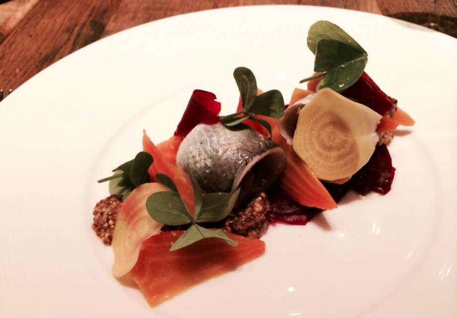 Herring with beets and mustard ($11)