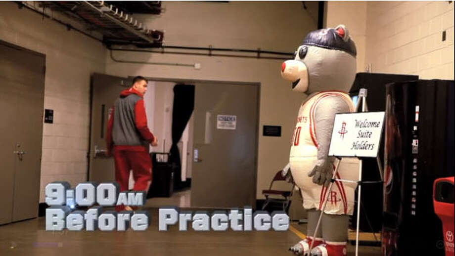 Houston Rockets mascot Clutch gets into all sorts of trouble every season. His most recent prank is the talk of the Internet as he freaks out players when they head out of practice. See their horrified expressions in our slideshow and the full video towards the end.