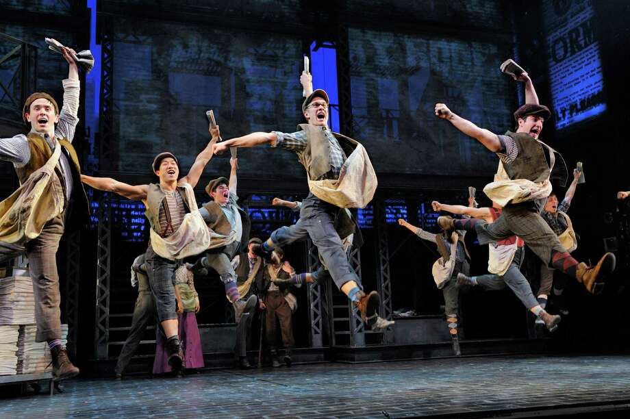 """Newsies,"" winner of Tony awards for best score and best choreography in 2012, features the music by Alan Menken and lyrics by Jack Feldman. Photo: Deen Van Meer / ONLINE_YES"