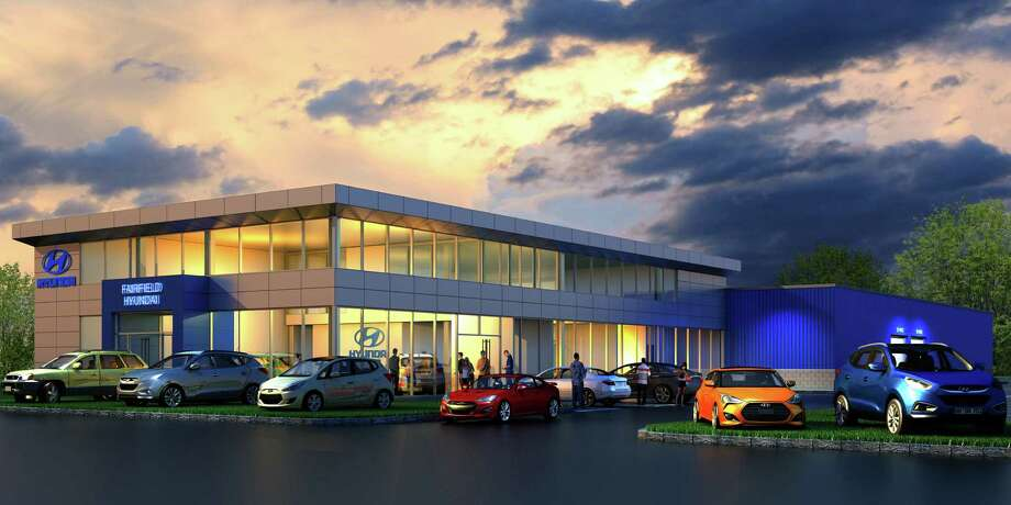 An artist rendering of the new Hyundai Fairfield building at 386 Commerce Drive, Fairfield, CT Photo: Contributed Photo / Connecticut Post Contributed