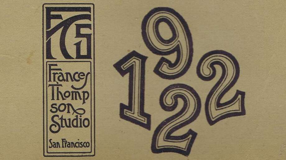 I believe that Frances started using her studio logo and stylized numbers sometime in the teens. From the collection of Bob Bragman