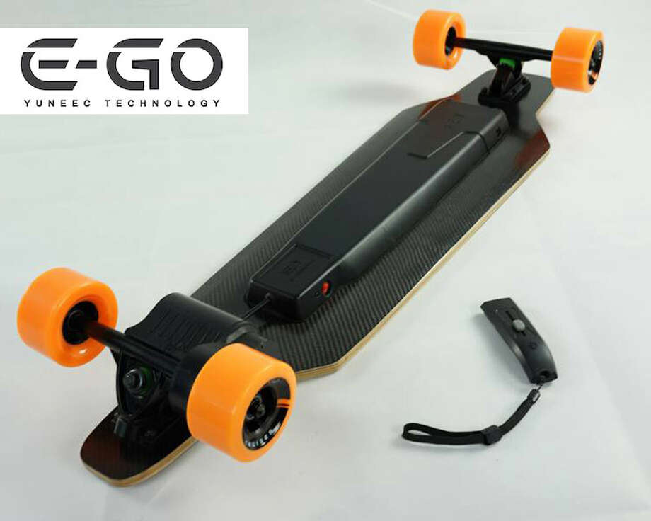 9) Yuneec E-Go Cruiser. $699. Available Feb. 2014.  A vast majority of stoners also love to go skateboarding, but sometimes they're just too high to kick and push, and just want to coast. Enter the E-Go cruiser -- an electric, remote-controlled skateboard that can manage going up hills and can travel up to 18 miles on a single charge. Before you decide to order one and take on every steep hill in San Francisco, take note of that hefty price point sitting at $700.