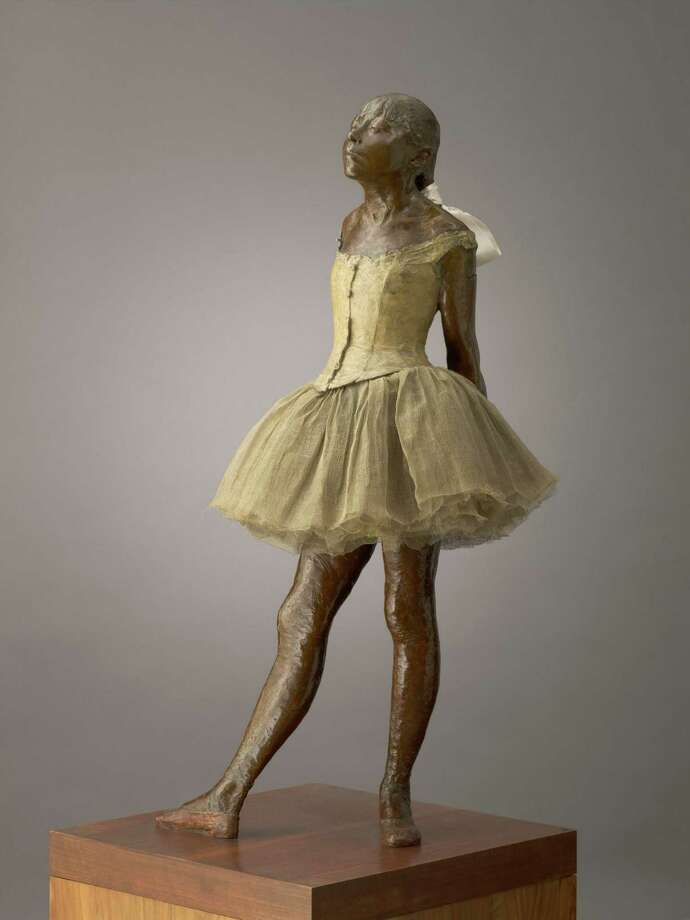 """Hilaire-Germain-Edgar Degas' sculpture """"Little Dancer Aged Fourteen"""" is among works on view in """"The Age of Impressionism: Great French Paintings from the Sterling and Francine Clark Art Institute Dec. 22- March 23 at the Museum of Fine Arts, Houston. ( modeled 1880–81; cast 1919–21, bronze; Sterling and Francine Clark Art Institute, Williamstown, Massachusetts, USA. Image The Clark) Photo: The Clark / ONLINE_YES"""