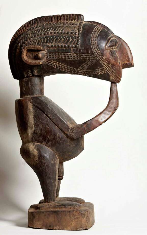 A Baga Nimba statue  from Guinea is among the sub-Saharan objects at Gallery Jatad. Photo: Gabriella Nissen / ONLINE_YES