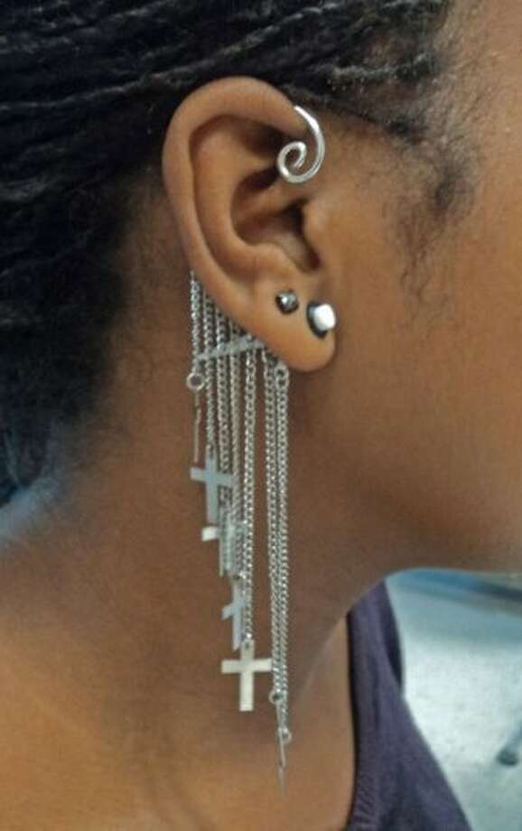Earrings have been found in ears, noses and genitals.