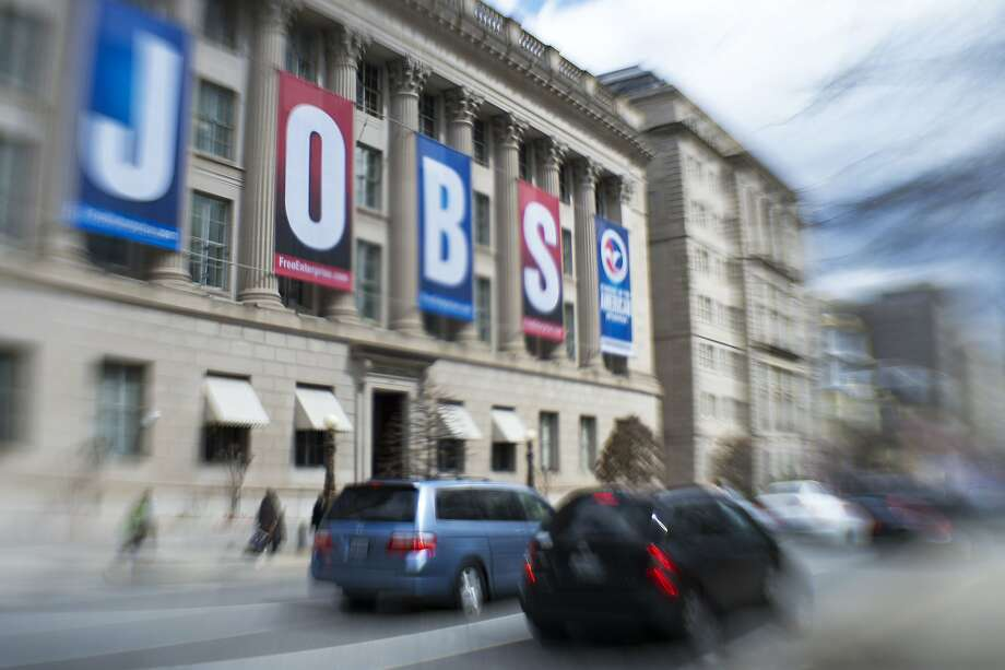 The U.S. Chamber of Commerce building in Washington sports banners that spell out its goal last year. December saw fewer jobs added than expected. Photo: Paul J. Richards, AFP/Getty Images