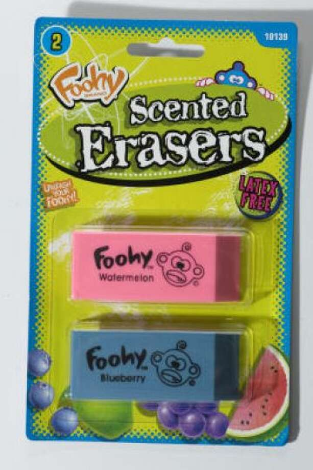 Erasers have been found in noses.