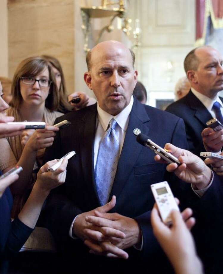 Rep. Louie Gohmert (R) represents Texas' 1st District in northeast Texas and has a net worth between $-110,002 and $-215,000. (House Rank: 435) Note: Gohmert's negative net worth is due to liabilities listed between $610,004 and $1,215,000.