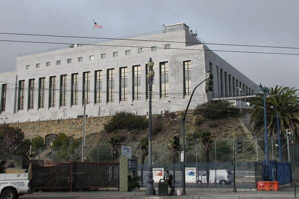 "The ""new"" San Francisco Mint stands above Market Street with a classical aura that shrugs off the cluttered city around it. The architect was Gilbert Stanley Underwood, and the super-secure structure opened in 1937."