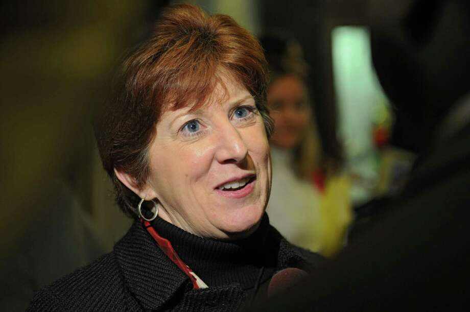 Mayor Kathy Sheehan talks to the press after announcing the first round of staff appointments and nominations for commissioners for the City of Albany Friday, Jan. 10, 2014, at City Hall in Albany, N.Y. (Lori Van Buren / Times Union) Photo: Lori Van Buren / 00025318A