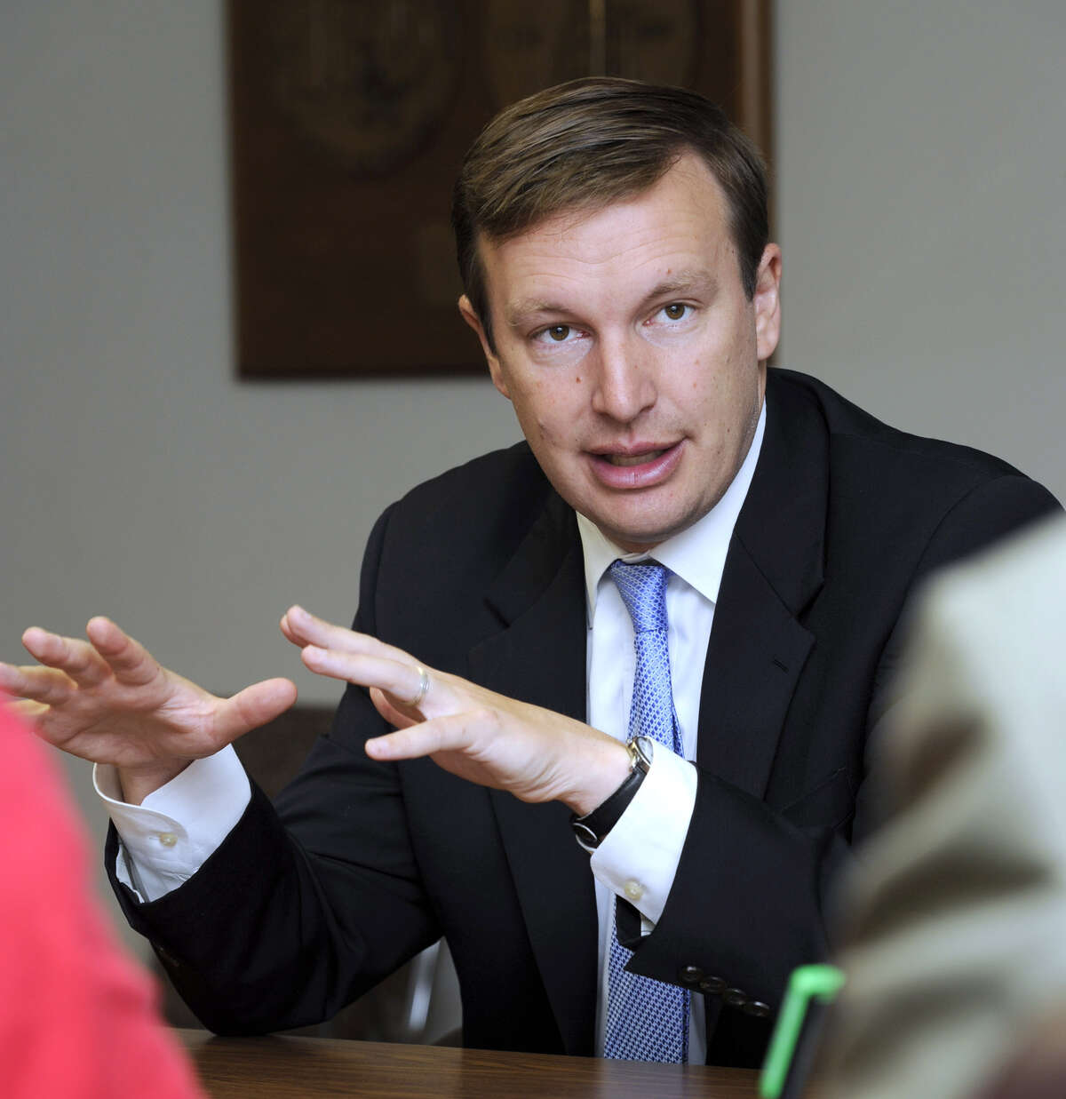 U.S. Rep. Chris Murphy, D-5th, meets with The Spectrum/News-Times editorial board on Tuesday, July 3, 2012 during his successful run for the U.S. Senate..