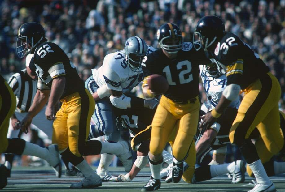 Terry BradshawTeam: Pittsburgh SteelersWhich Super Bowls Won: 9, 10, 13, 14Overall Draft Pick: 1 (Round 1) Photo: Focus On Sport, Getty Images