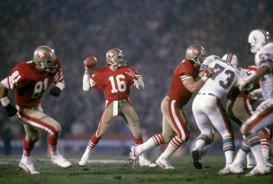Joe MontanaTeam: San Francisco 49ersSuper Bowls Won: 16, 19, 23, 24Overall Draft Pick: 82 (Round 3) Photo: Focus On Sport, Getty Images