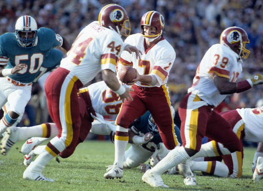 Joe TheismannTeam: Washington RedskinsSuper Bowl Won: 17Overall Draft Pick: 99 (Round 4 - by the Miami Dolphins; debuted with Toronto Argonauts of Canadian Football League) Photo: Ronald C. Modra/Sports Imagery, Getty Images / 1983 Ronald C. Modra/Sports Imagery