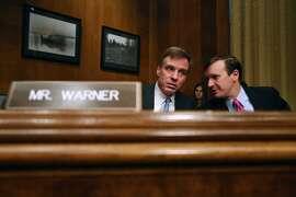 2. Sen. Mark Warner, D-VA, (L) has a net worth that's between $96,221,316 and $418,742,000. The average puts him at  $257,481,658.
