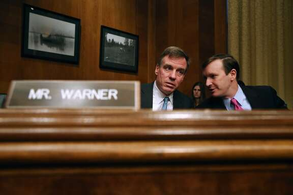 2. Sen. Mark Warner, D-VA, (L) has a net worth that's between $96,221,316 and $418,742,000. The average puts him at  $257,481,658.