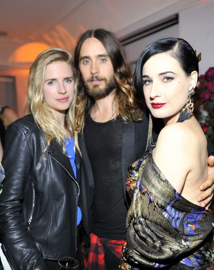 "Actress Brit Marling, actor Jared Leto and Dita Von Teese attend the W Magazine celebration of The ""Best Performances"" Portfolio and The Golden Globes with Cadillac and Dom Perignon at Chateau Marmont on January 9, 2014 in Los Angeles, California. Photo: Donato Sardella, Getty Images For W Magazine"