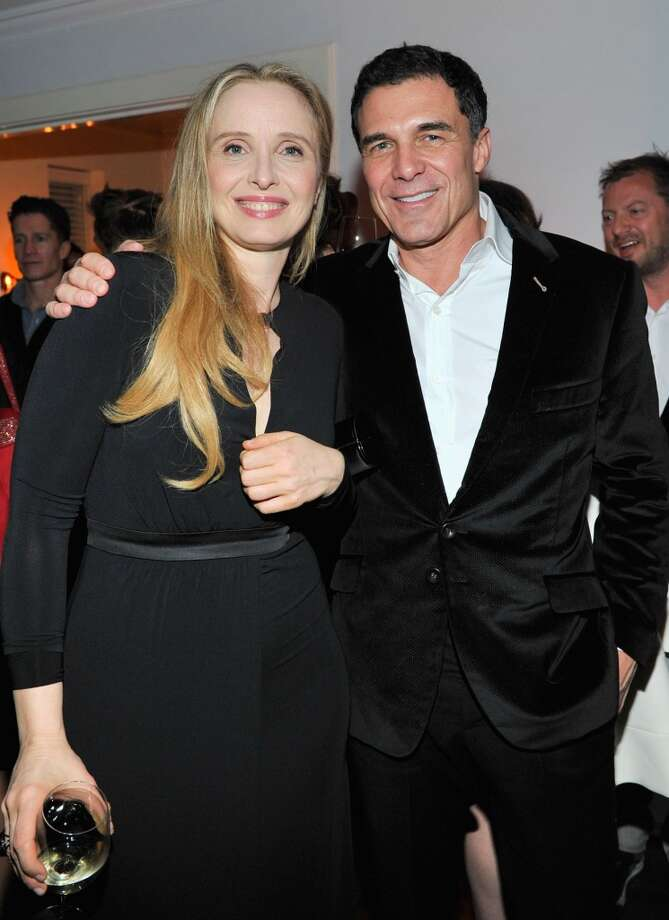 "Actress Julie Delpy and hotelier Andre Balazs attend the W Magazine celebration of The ""Best Performances"" Portfolio and The Golden Globes with Cadillac and Dom Perignon at Chateau Marmont on January 9, 2014 in Los Angeles, California. Photo: Donato Sardella, Getty Images For W Magazine"
