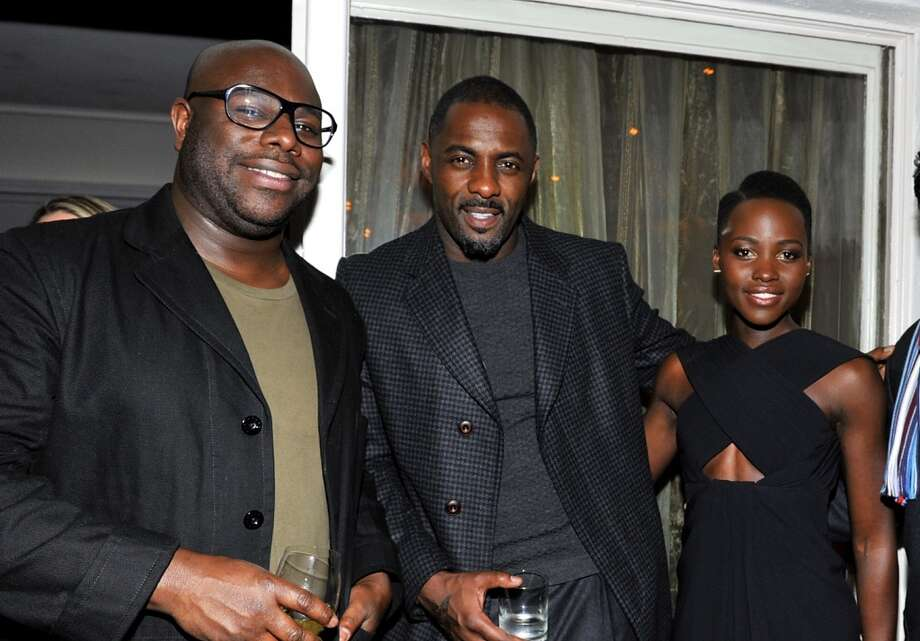 "(L-R) Director Steve McQueen, actor Idris Elba and actress Lupita Nyong'o attend the W Magazine celebration of The ""Best Performances"" Portfolio and The Golden Globes with Cadillac and Dom Perignon at Chateau Marmont on January 9, 2014 in Los Angeles, California. Photo: Donato Sardella, Getty Images For W Magazine"