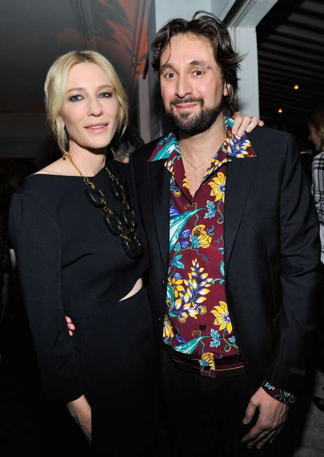 "Actress Cate Blanchett (L) and artist Francesco Vezzoli attends the W Magazine celebration of The ""Best Performances"" Portfolio and The Golden Globes with Cadillac and Dom Perignon at Chateau Marmont on January 9, 2014 in Los Angeles, California. Photo: Donato Sardella, Getty Images For W Magazine"
