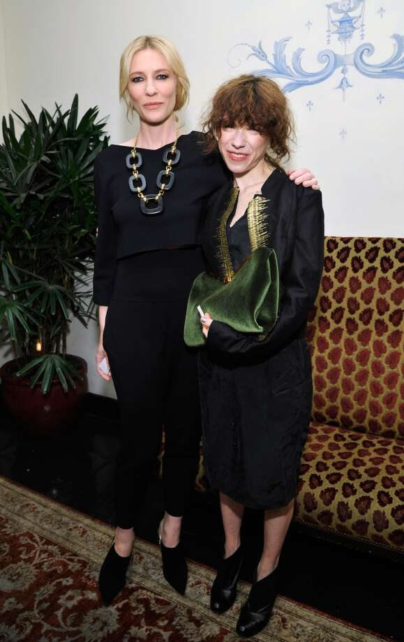 """Actress Cate Blanchett (L) and actress Sally Hawkins attend the W Magazine celebration of The """"Best Performances"""" Portfolio and The Golden Globes with Cadillac and Dom Perignon at Chateau Marmont on January 9, 2014 in Los Angeles, California. Photo: John Sciulli, Getty Images For W Magazine"""