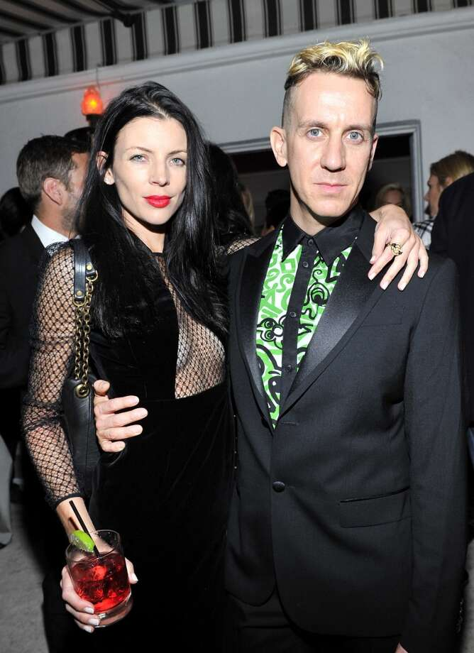 "Model Liberty Ross (L) and fashion designer Jeremy Scott attend the W Magazine celebration of The ""Best Performances"" Portfolio and The Golden Globes with Cadillac and Dom Perignon at Chateau Marmont on January 9, 2014 in Los Angeles, California. Photo: Donato Sardella, Getty Images For W Magazine"
