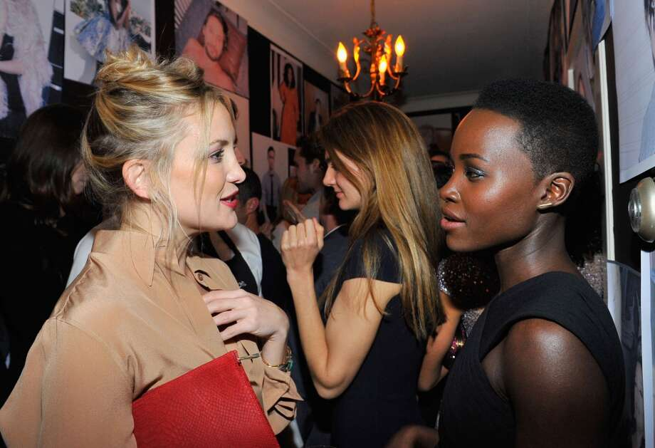 "Actress Kate Hudson (L) and actress Lupita Nyong'o attend the W Magazine celebration of The ""Best Performances"" Portfolio and The Golden Globes with Cadillac and Dom Perignon at Chateau Marmont on January 9, 2014 in Los Angeles, California. Photo: Donato Sardella, Getty Images For W Magazine"