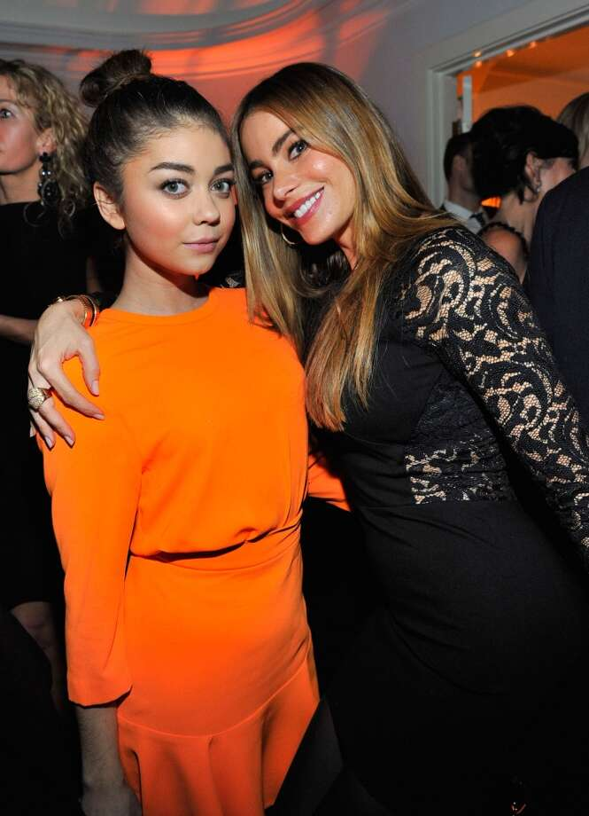 "Actress Sarah Hyland (L) and actress Sofia Vergara attend the W Magazine celebration of The ""Best Performances"" Portfolio and The Golden Globes with Cadillac and Dom Perignon at Chateau Marmont on January 9, 2014 in Los Angeles, California. Photo: Donato Sardella, Getty Images For W Magazine"