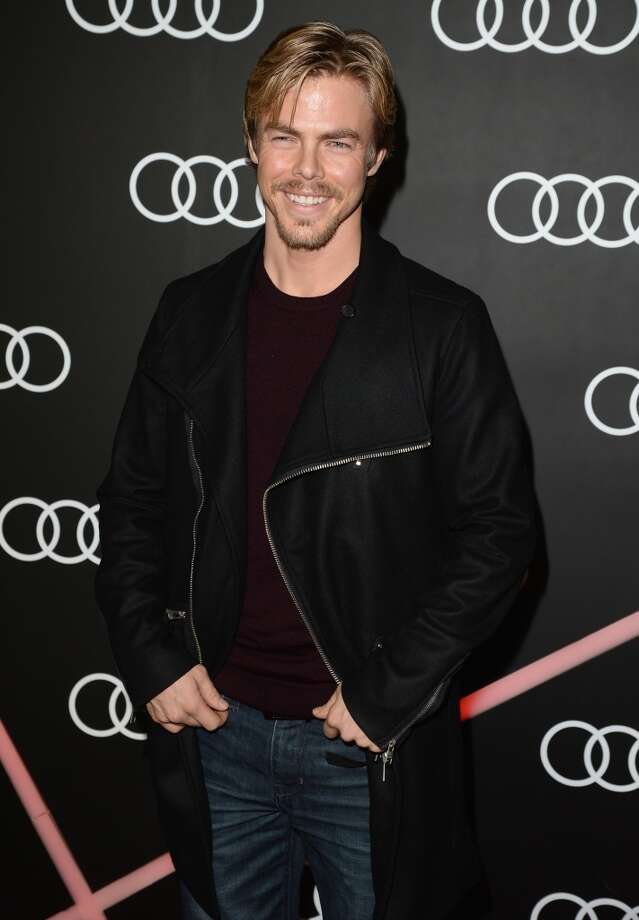 TV Personality Derek Hough attends Golden Globes Weekend Audi Celebration at Cecconi's on January 9, 2014 in Beverly Hills, California. Photo: Jason Merritt, Getty Images For Audi