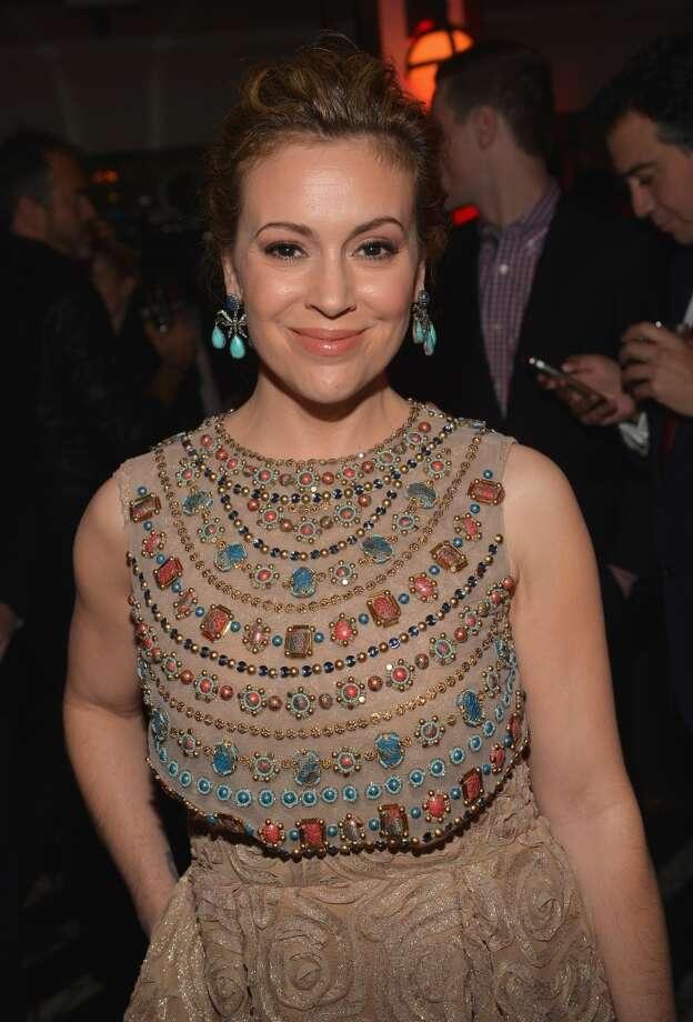 Actress Alyssa Milano attends Golden Globes Weekend Audi Celebration at Cecconi's on January 9, 2014 in Beverly Hills, California. Photo: Charley Gallay, Getty Images For Audi