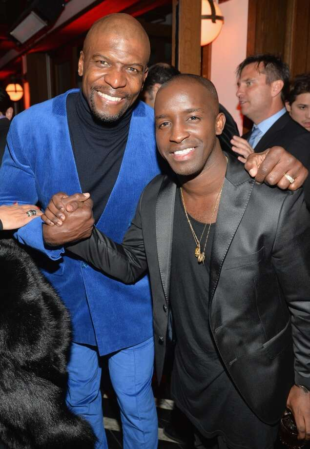 Actors Terry Crews (L) and Elijah Kelley attend Golden Globes Weekend Audi Celebration at Cecconi's on January 9, 2014 in Beverly Hills, California. Photo: Michael Buckner, Getty Images For Audi