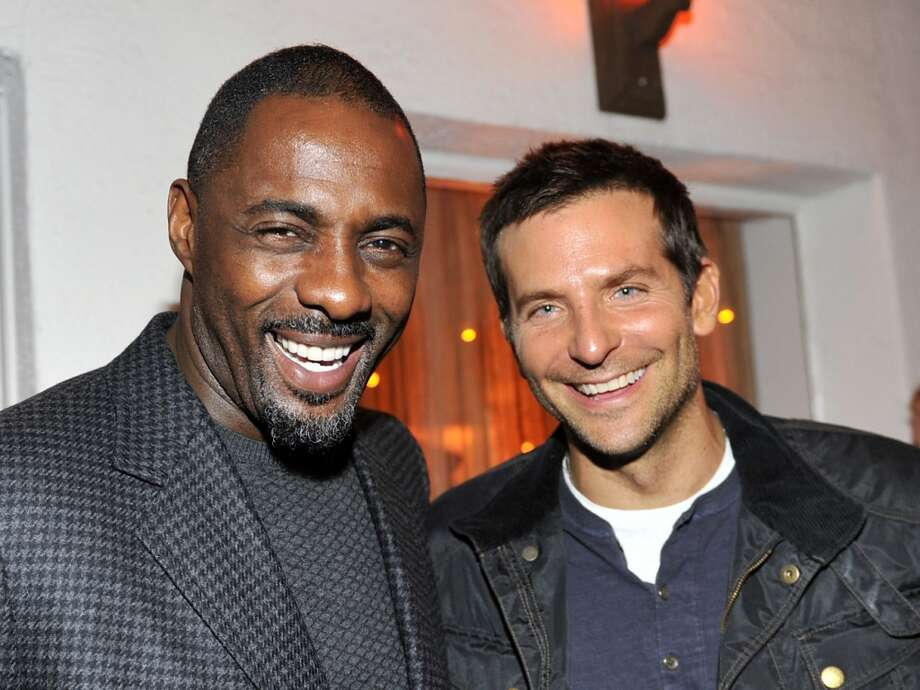 """Actor Idris Elba (L) and actor Bradley Cooper attend the W Magazine celebration of The """"Best Performances"""" Portfolio and The Golden Globes with Cadillac and Dom Perignon at Chateau Marmont on January 9, 2014 in Los Angeles, California. Photo: Donato Sardella, Getty Images For W Magazine"""