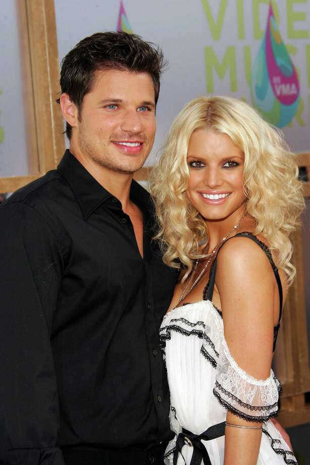 Jessica Simpson married Nick Lachey when she was 22 — and a virgin. The couple split in 2006, and both have since recoupled. Simpson has two kids now, and Lachey has one. Photo: Evan Agostini, Getty Images / 2005 Getty Images
