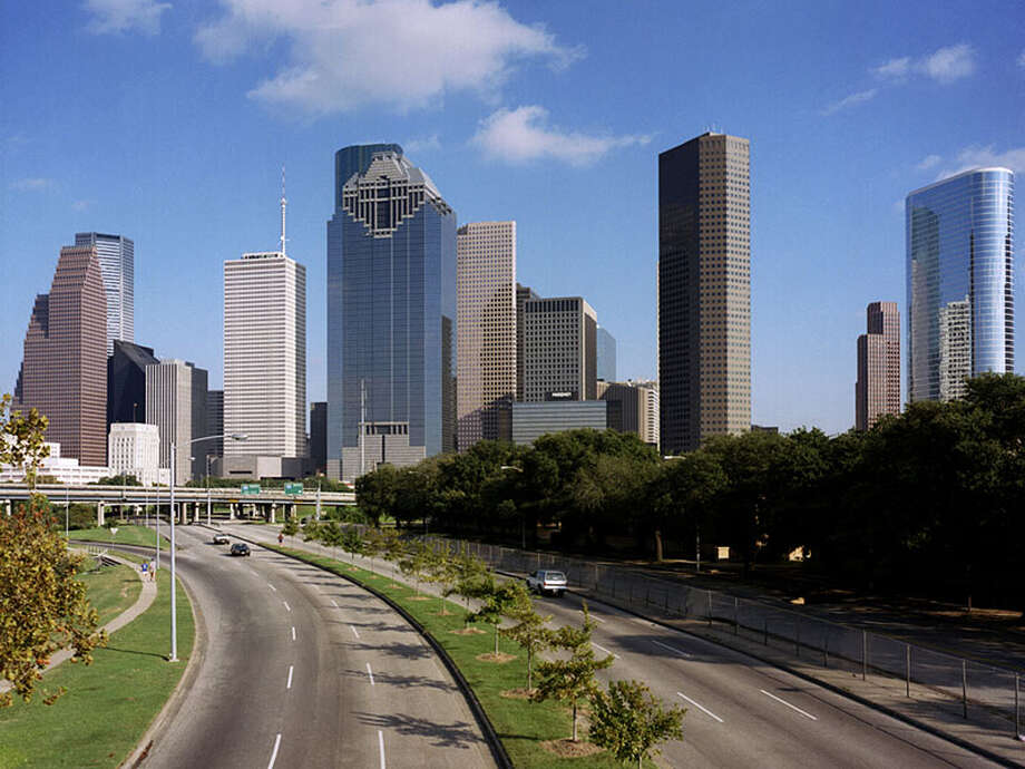 Houston skyline 2013
