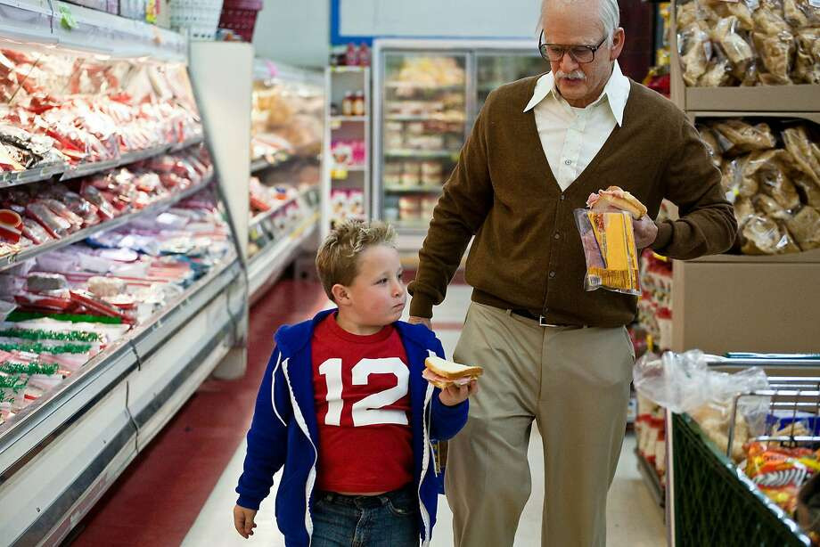 "In ""Jackass Presents: Bad Grandpa,"" Johnny Knoxville plays an octogenarian, here with Jackson Nicoll. Photo: Sean Cliver, Associated Press"
