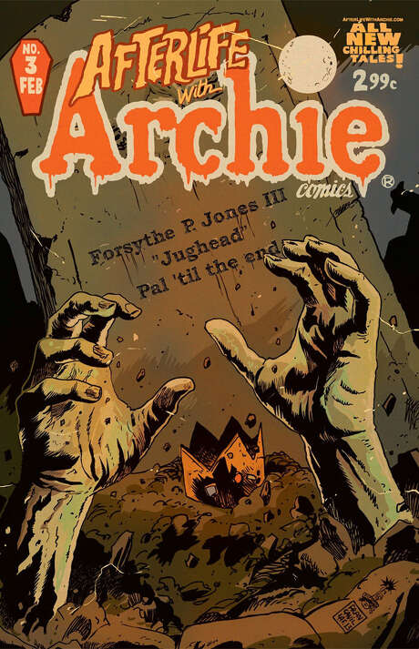 Archie Andrews and the rest of the kids at Riverdale High must now deal with zombies after an undead dog bites Jughead. Photo: Archie Comics / The Washington Post
