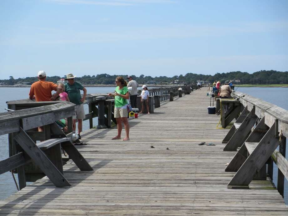The pier at Hunting Island State Park is a popular place for fishing and sightseeing. Photo: Terry Scott Bertling, San Antonio Express-News