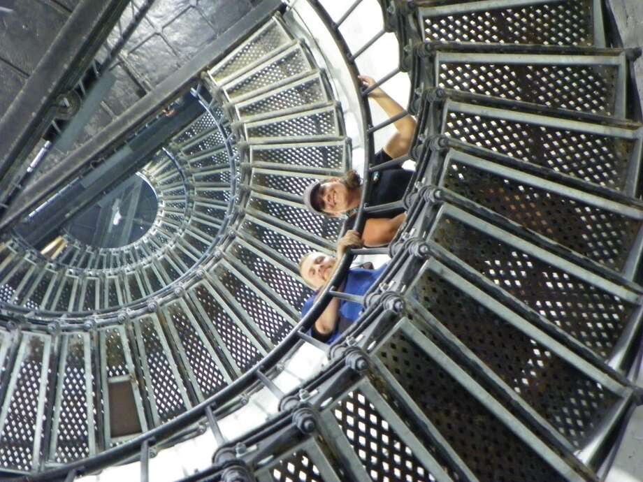 We joined my son and his wife on a climb up the 176 steps in the Hunting Island Lighthouse. The observation deck is where he proposed (and she said yes) on an earlier visit. Photo: Terry Scott Bertling, San Antonio Express-News