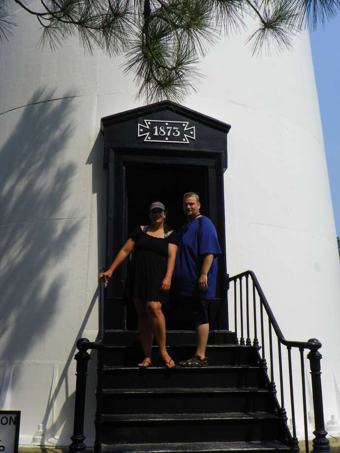 The lighthouse is the only one open to the public in South Carolina. My son and his wife stop for a photo before making the climb to the top. Photo: Terry Scott Bertling, San Antonio Express-News