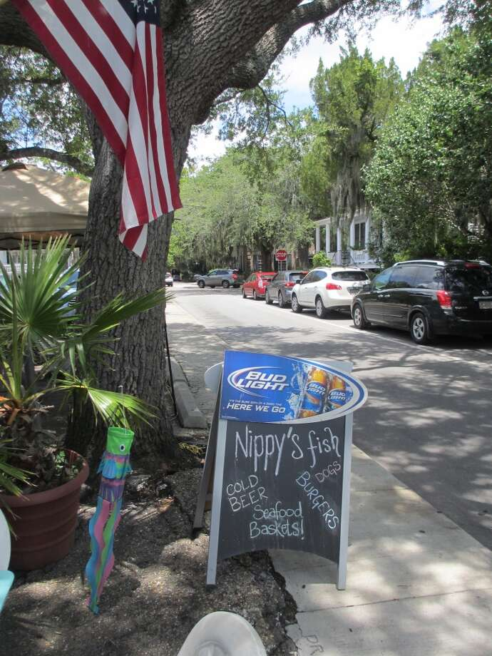 The sign advertising Nippy's Fish in Beaufort was enough to make us want to stick around for lunch in town one day. Photo: Terry Scott Bertling, San Antonio Express-News