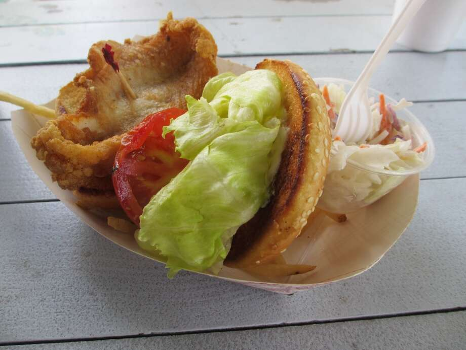 A fried fish sandwich hit the spot. Photo: Terry Scott Bertling, San Antonio Express-News