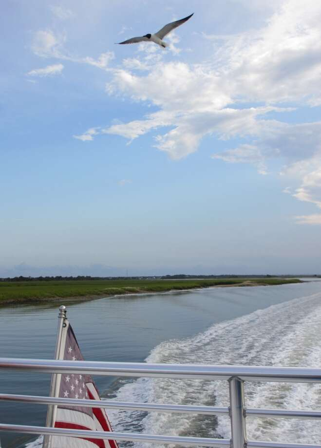 The ferry ride from the Dewees Marina on the Isle of Palms, South Carolina, to Dewees Island takes less than half an hour and goes by some beautiful coastal scenery. Photo: Terry Scott Bertling, San Antonio Express-News