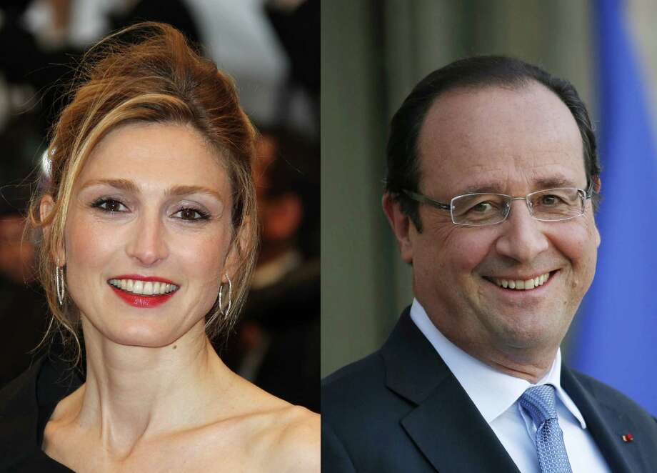 A tabloid published photos alleged to show trysting by French actress Julie Gayet (left) and French President Francois Hollande. Photo: AFP/Getty Images / AFP
