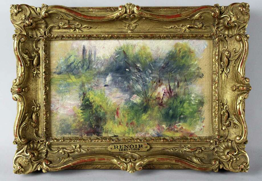 A federal judge determined a napkin-sized painting by French impressionist Pierre-Auguste Renoir should go to a Baltimore museum from which it was stolen in 1951 and not a Virginia woman who said she bought it for $7 at a flea market. Photo: Uncredited, Associated Press / Potomack Company