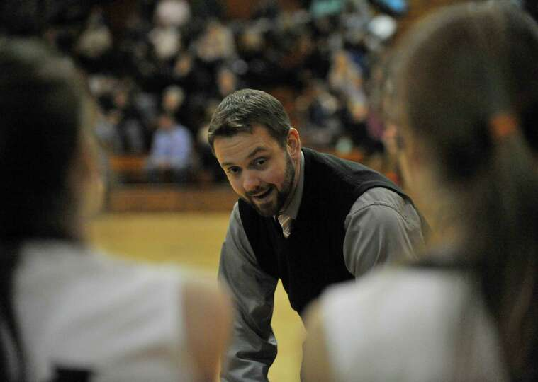 Bethlehem head coach Matt Bixby coaches his players against Columbia during their girls' basketballl