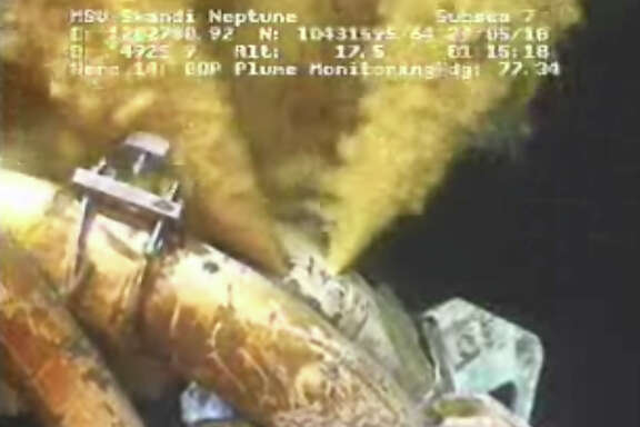 FILE - This image made from video released by British Petroleum (BP PLC) early Saturday morning, May 29, 2010 shows drilling mud escaping from the broken pipe on the gushing oil well in the Gulf of Mexico. Over BP's objections, a federal appeals court on Friday Jan. 10, 2014, upheld a judge's approval of the company's multibillion-dollar settlement with lawyers for businesses and residents who claim the massive 2010 oil spill in the Gulf of Mexico cost them money.  (AP Photo/BP PLC) NO SALES