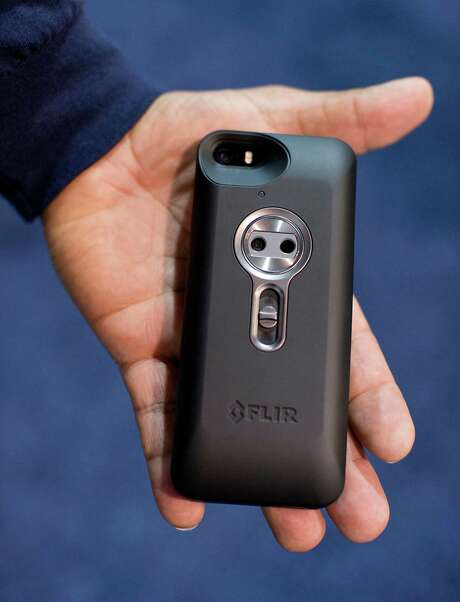 The Flir One thermal imager for the iPhone was on display at the International CES. Photo: Julie Jacobson, STF / AP